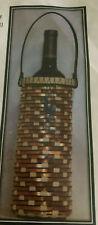 Basket Weaving Pattern Copper Desert Wine Bottle Basket by Julie Kleinrath