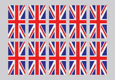 Union Jack Stickers x10 - GB - Car/Van country decals - 100mm x 50mm - External.