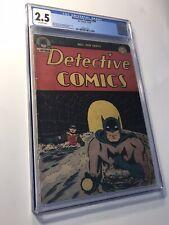 Detective Comics #94 CGC 2.5 Golden Age DC Comic Book! CLASSIC Batman Cvr! Rare!