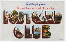 Collecting Postcards: Greetings from So. CA Postcard Club, Linen Large Letter.