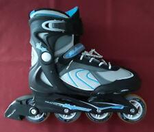 Euc Bladerunner Pro 80 Inline Skates in Silver/Blue Size Us 10 Uk 8 Eu 42 Cm 27