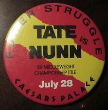 1988 Frank Tate Vs. Michael Nunn Boxing Caesars Palace Pinback Button