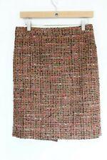 J Crew Pencil Skirt sz 4 Boucle Tweed Straight Colorful Fall Fashion style women