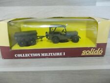 Solido 1/43 - Willy's Jeep mit anhanger - Collection Militaire I