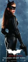 """THE DARK KNIGHT RISES Banner CATWOMAN poster 40x18"""" Anne Hathaway Selina Kyle C"""