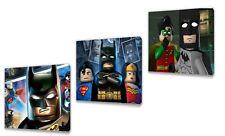 Batman  Kids canvas wall art plaque pictures set of three pack II