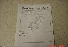 Husqvarna Spare Parts Manual IPL ST21M Snow Thrower ST 21 M