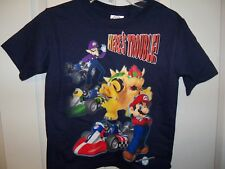 Super Mario Bros Here's Trouble Blue Short Sleeve Shirt Boys Size 4 NWT  #340