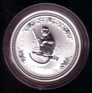Australia 2004-2 Onzas Plata Lunar I - Mono - Raro