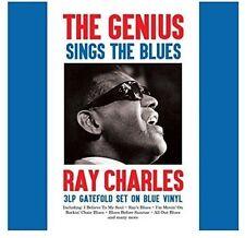 Il GENIO canta il blues Ray Charles 3 LP APRIBILE impostato su vinile blu