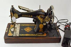 1923 Singer Sewing Machine Model 128 Bentwood Case NO RESERVE  - DZ1