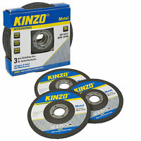 Kinzo Universal 3 Pack of Metal Grinder Discs 125mm Cutting Grinding Angle New