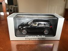 Rare Porsche Dealer Cayenne Turbo. Metallic Black. Minichamps 1/43 Diecast