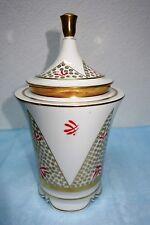 Art Deco Porzellan Deckel Dose C.T. Tielsch Altwasser - 27 cm Höhe
