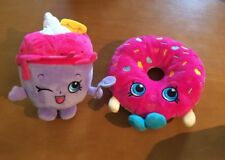 2 Plush Shopkins: Pink Donut and Ice Cream Queen