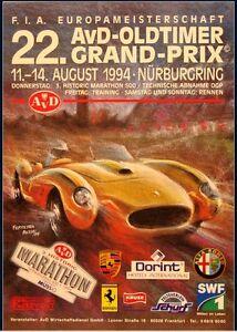 AvD 22.Oldtimer Grand Prix 1994 Poster Nürburgring Ferrari 250 TR Alfa Romeo