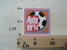 STICKER,DECAL AUTO WK 1994 VOETBAL FOOTBALL SOCCER