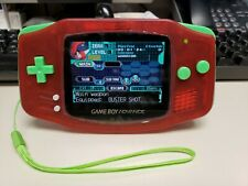 Gameboy Advance/GBA Backlit FunnyPlaying  IPS V2 screen-Custom Red W/Green