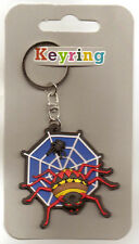 Spider Keyring Boys Halloween Trick Or Treat Alternative To Sweets Gift Blue
