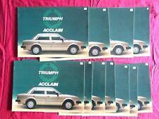 TRIUMPH ACCLAIM : lot de 11 catalogues en français millésime 1983