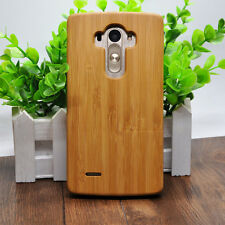Natural Bamboo Wood Wooden Hard Back Cell Phone Protection Cover Case For LG G4