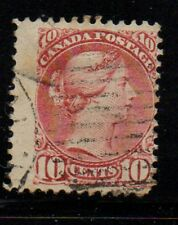 Canada Sc 45 10c brown red small Queen Victoria stamp used Free Shipping