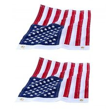 """Pair 12""""x18"""" Ensign Nautical American Flag With Sewn Stripes & Embroidered Stars"""