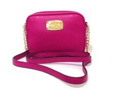 Michael Kors Hamilton Leather Cross Body Bag Fuschia Pink Small Handbag RRP £150