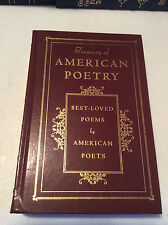 A Treasury of American Poetry - leatherbound - ships in a box