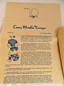Vintage 1940's Apron Pattern Laura Wheeler Designs Wrap-Button w/ Transfers
