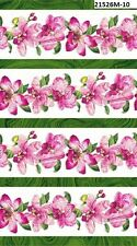 Sandscapes Orchids 21526M-10 Quilt fabric Cotton Northcott BTY Border Stripe W
