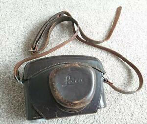 LEICA Camera Leather Case by Ernst LEITZ Wetzlar Germany Rare Vintage item