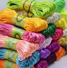 3mm Chinese Knot Satin Nylon Braided Cord Macrame Beading Rattail Thread Cords#1