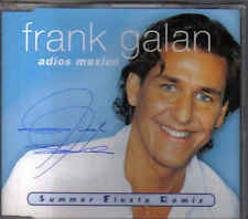 Frank Galan-Adios Mexico cd maxi single Signed