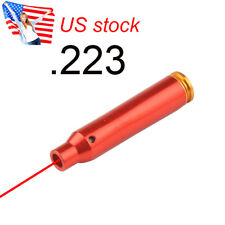 US 4 Batteries .223 REM Laser Red Cartridge Bore Sight 5.56 Boresight For Rifle