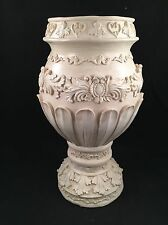 Vintage CASA ELITE Decorative Vase - M. VALENTI - Ivory White Tuscan Vase NIB