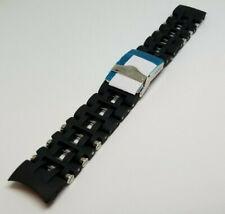 Invicta Sea Spider Stainless Steel Black Rubber Watch Bracelet