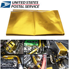 """39x47"""" Gold Self Adhesive Reflect Heat Wrap Barrier for Car Auto Thermal Exhaust"""