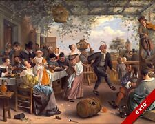 FAMILY PARTY & DANCING 1600'S PAINTING MUSIC JAN STEEN DUTCH ART CANVAS PRINT