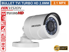 TELECAMERA BULLET HD TVI HIKVISION TURBO HD 2.1MP 1080P 2.8MM  VISIONE NOTTURNA