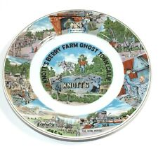 Vintage Knott's Berry Farm Ghost Town Souvenir Plate California State Vacation