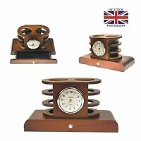 DARK FINISH WOOD MANTEL CLOCK .NEW AND BOXED.WOODEN MANTLE