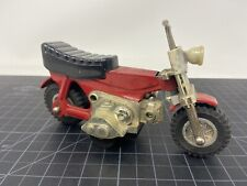"Bandai Auto-Cycle Red Minibike Tin Friction About 6"" Long Vintage"