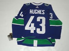 QUINN HUGHES SIGNED VANCOUVER CANUCKS ADIDAS CLIMALITE JERSEY PROOF