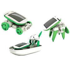 DIY Educational Kit Toy 6 in 1 Solar Boat Fan Car Robot Plane Puppy Kids Toy UK