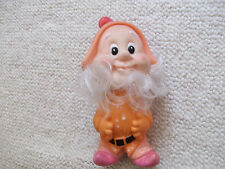 VINTAGE ELF SMURF GNOME CHARACTER RUBBER DOLL TOY 8.5 INCHES LONG