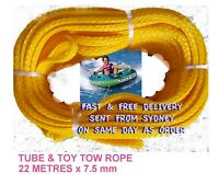 Tube and Toy Tow Rope for Ski Tube Ski Biscuit 22 M/ 75 FT