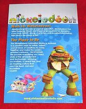 SDCC Comic Con Teenage Mutant Ninja Turtles Sponge Bob Nickelodeon Promo Card