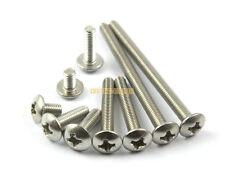 50 Pieces M3 x 50mm 304 Stainless Steel Phillips Truss Head Machine Screw