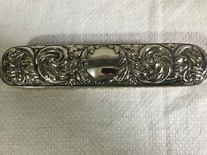 Antique Art Nouveau Sterling Silver Clothes Brush (A)
